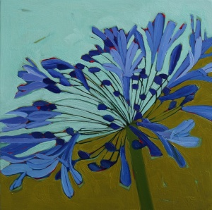Agapanthus Oil Painting