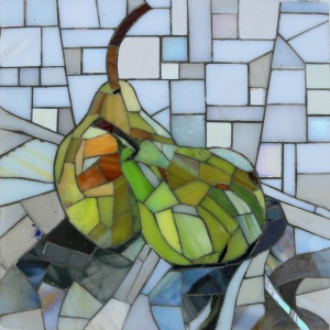 Happy Pear, Mosaic, Glass, Stained Glass, Andamento