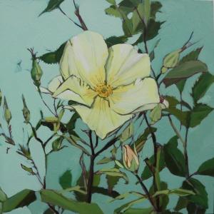 Rosa Key Gardens Oil Painting