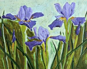 Mary's Gilded Iris