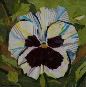 Collage, Painting, Flower Painting, Pansy, Nature, Olive Stack