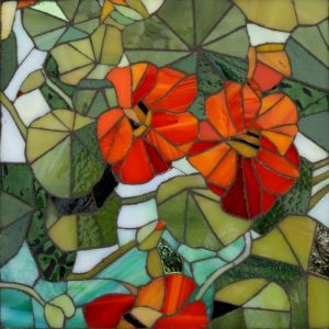 Nasturtium Stained Glass Mosaic