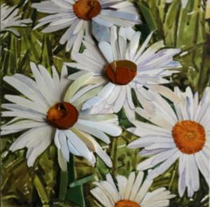 Daisies Watercolor Mosaic