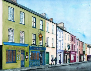 Church Street Listowel, Olive Stack, Print, Limited Edition Print, Co Kerry, Ireland