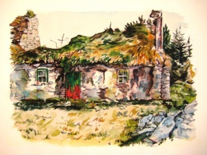 Cill Rialaig, Olive Stack, Print, Limited Edition Print, Co Kerry, Ireland