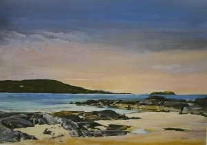 Derrynane Beach Ring Of Kerry, Olive Stack, Print, Limited Edition Print, Co Kerry, Ireland