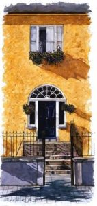 Georgian Door, Sheanchai, Kerry Writers Museum, Olive Stack, Print, Limited Edition Print, Listowel, Co Kerry, Ireland