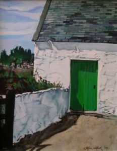Green Door Kilmore Quay, Olive Stack, Print, Limited Edition Print, Co Wexford, Ireland