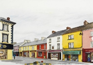 McKennas Corner Listowel, Olive Stack, Print, Limited Edition Print, Co Kerry, Ireland