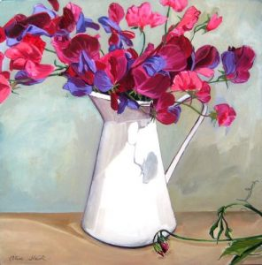 Sweet Pea, Still Life, Olive Stack, Print, Limited Edition Print, Co Kerry, Ireland