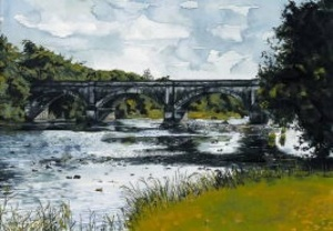 The Big Bridge Listowel, Olive Stack, Print, Limited Edition Print, Listowel, Co Kerry, Ireland