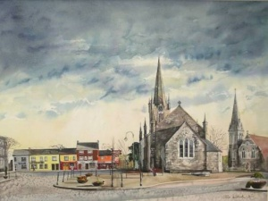 The Square Listowel, Olive Stack, Olive Stack Gallery, Print, Limited Edition Print, Co Kerry, Ireland