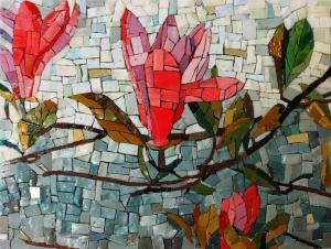 Smalti, Magnolia, Mosaic