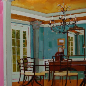 Interior, Interior Paintings, Dining Room, Perspective, Working from Life, Interesting Interiors