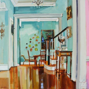 Interior, Interior Paintings, Perspective, Oil Painting, Architectural Painting